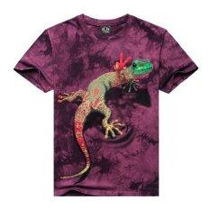 2015 New Men's Short-sleeved T-shirt 3D T-shirt Tie-dye Trend Men's Cotton Men's T-shirt