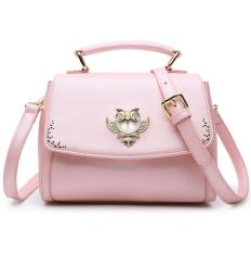 2016 Europe And The United States The New Lovely Oblique Satchel Summer Crystal Owl Small Single Shoulder Bag (Pink) - Intl