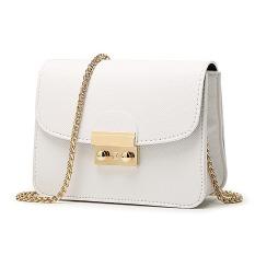 2016 Mini Metropolis Bag Ladies PU Leather Women Messenger Bags Handbags Women Long Chain Crossbody Bags (White) - Intl