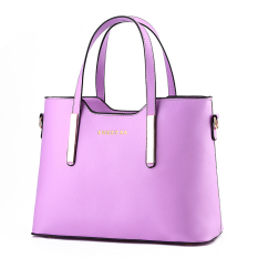 2016 New Fashion Candy Color Lady Shoulder Bags Brand PU Leather Women Handbags Of Famous Brands Leather Women Joker Handbags, Purple - Intl