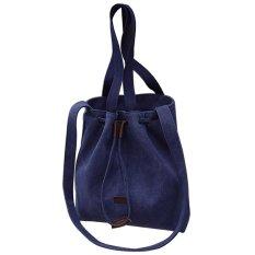 2016 New Spring Tide Inclined Shoulder Bag Handbag Canvas Bag Lady Simple Shopping Bag (Blue) - INTL