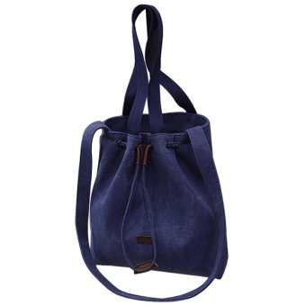 2016 New Spring Tide Inclined Shoulder Bag Handbag Canvas Bag Lady Simple Shopping Bag (Blue)