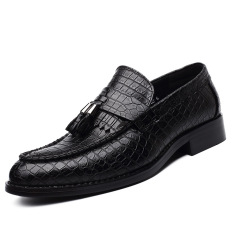 2016 New Tassel Men Oxford Shoes Mens Genuine Leather Crocodile Casual Shoes Dress Party Wedding Flats Shoes