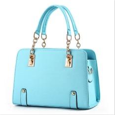 2016 New Tide Bag Ladies Summer Fashion Handbag On Behalf Of A Money Chain Crossbody Shoulder Handbag Light Blue - Intl