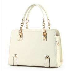 2016 New Tide Bag Ladies Summer Fashion Handbag On Behalf Of A Money Chain Crossbody Shoulder Handbag White - Intl