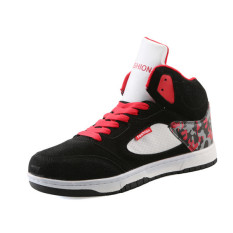 2016 Winter New Comfortable Graffiti Shoes Men Lace Up High Top Boots Casual Shoes Man (Black)