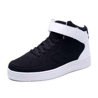 2016 Winter New Massage Shoes Men Lace Up High Top Boots Casual Shoes Man Flat Shoes (White)