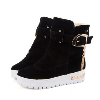 2016 Winter Suede shoes increase shoes fashion shoes boots women(Black) - intl
