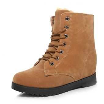 2016 Winter warm Add Suede Boots women suede leather fashion boots women (Yellow) -