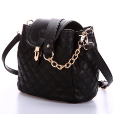 2016 Women's Handbag Fashion All-match Bucket Bag Chain Bag Shoulder Bag Women Messenger Bag Black
