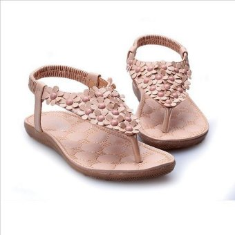 36990f62c78b9 2016 Women s shoes woman sandals Bohemia summer sandal shoes pinch the new  clip toe flowers flat