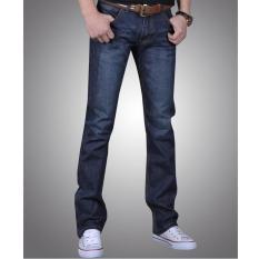 2017 New Korean style Winter men's thick long jean(black) - intl
