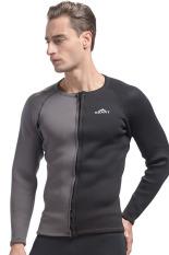 3 mm neoprena hangat musim dingin pakaian selam menyelam menombak ikan lengan baju panjang Pria Pakaian