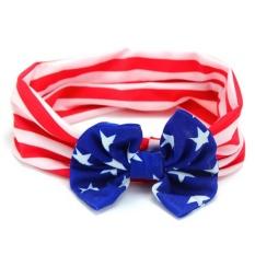 360DSC American Flag Pattern Children Hair Band Fashion Hair Accessories(Bowknot Pattern) - Blue
