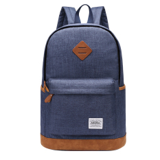 360DSC Kaukko K1001 Men's Canvas Backpack Large Capacity Casual Rucksack School Travel Bag (Sapphire Blue