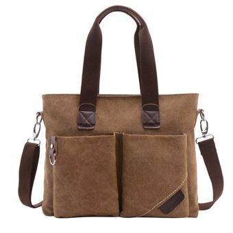 360DSC Large Capacity Canvas Handbag Tote Bag Crossbody Bag Shoulder Bag Mens Bag - Coffee - Intl - Intl