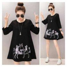 369 Mini Catty Dress Hitam