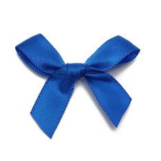 50pcs Silk Satin Ribbon Bows Ribbons Appliques Scrapbooking Craft DIY Gift 4x3cm Navy Blue
