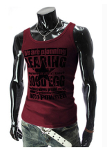8688 Men's Vests Fashion Printed Casual Summer Red