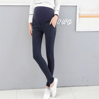 b126c1d025f8be 969# Super Stretch Maternity Pencil Belly Pants Denim Look Skinny Legging  Trousers Clothes for Pregnant
