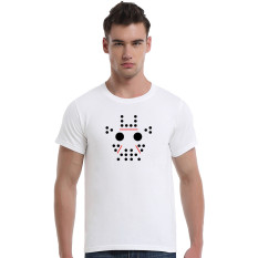 Abstract Giraffe Cartoon Cotton Soft Men Short T-Shirt (White) - Intl