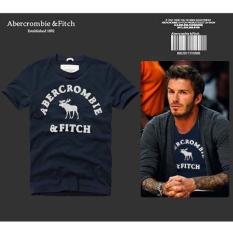 AF Men's Casual Fashion Slim Cotton Short-sleeved T-shirt (Dark Blue) - Intl