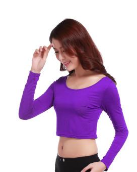Agapeon Muslim Wear Inner Long-sleeve Modal Bottoming Shirt Purple