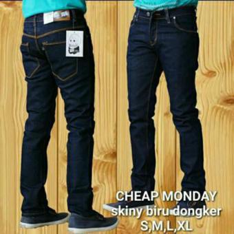AHF Celana Panjang Jeans Skinny Pensil Cheap Monday - Biru Dongker