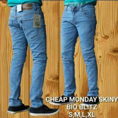 AHF Celana Panjang Jeans Skinny Pensil Cheap Monday - Biru Muda (BioBlitz)