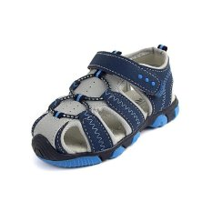 Ai Home Children Velcro Beach Shoes Sports Sandals Water Shoes (Blue) - intl