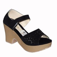 Aldhino Sepatu Sandal Wedges Wanita BJ 06 - Hitam