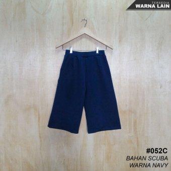 Alicia Celana Kulot Scuba 3/4 / Kulot Pants (Navy Blue)