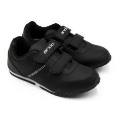Alldaysmart Ando Sepatu Sekolah Diva Light Velcro (AK) - Black/White Size 29-32