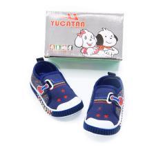 Alldaysmart Yucatan Sepatu Sneakers Baby IBB 5559 - Navy/White Size 18-22