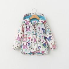 Anak-anak perempuan musim semi musim gugur Sun pakaian pelindung perempuan jaket - International