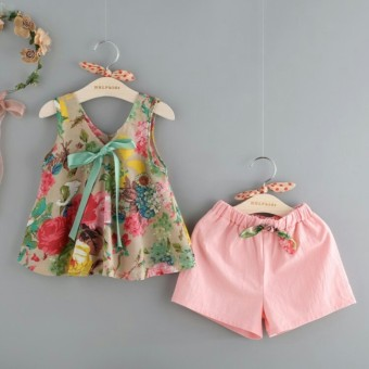 India Pink Organdy Source Setelan Anak Perempuan Miyuki. Source · Anami Fashion .
