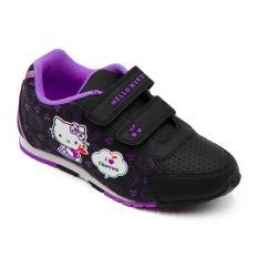 ando sepatu sekolah anak perempuan hk cherry black purple