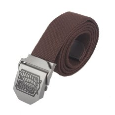 Anime Attack On Titan AOT Canvas Belt Stainless Steel Buckle (Coffee) - Intl