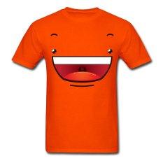 AOSEN FASHION Creative Men's Happy Smiley Face T-Shirts Orange