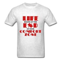 AOSEN FASHION Creative Men's Life Begins T-Shirts Light Oxford