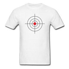 AOSEN FASHION Custom Printed Men's Round Target T-Shirts White