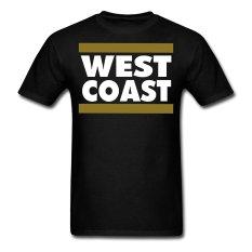 AOSEN FASHION Custom Printed Men's West Coast T-Shirts Black
