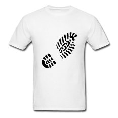 AOSEN FASHION Customize Men's Footprint Right T-Shirts White - Intl