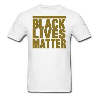 AOSEN FASHION Fashion Men's Lives Matter T-Shirts White