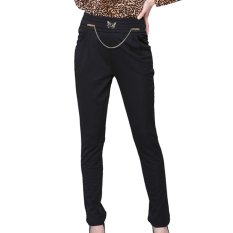 AOXINDA Fashion Women Casual Harem Slim Pants Long Trousers Black Size L