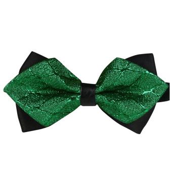 AOXINDA Tied Bow Ties Necktie Bowtie Tie Knot Men's Classic Adjustable Pre-Tied Bow Tie Tuxedo Wedding Party Bowtie Green - Intl