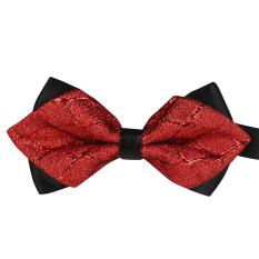 AOXINDA Tied Bow Ties Necktie Bowtie Tie Knot Men's Pre-tied Adjustable Classic Tuxedo Bowtie - Red - Intl