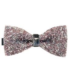 AOXINDA Tied Bow Ties Necktie Bowtie Tie Knot Mens Tuxedo Wedding Prom Party Bow Tie Pre-Tied Vintage Luxury Bling Rhinestone Bowtie - Intl