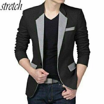 Aquinn Labelle - Blazer Long Sleeve Squall (Hitam-Grey)