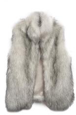 Astar New Fashion Women's Faux Fur Vest Medium Long Stand Collar Jackets Coat Vest Waistcoats (Grey) (Intl)
